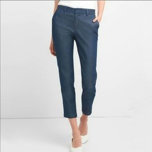 "NWT GAP ""Slim City Crop"" blue denim pant ankle"